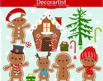 Etsy . Gingerbread clipart merry christmas