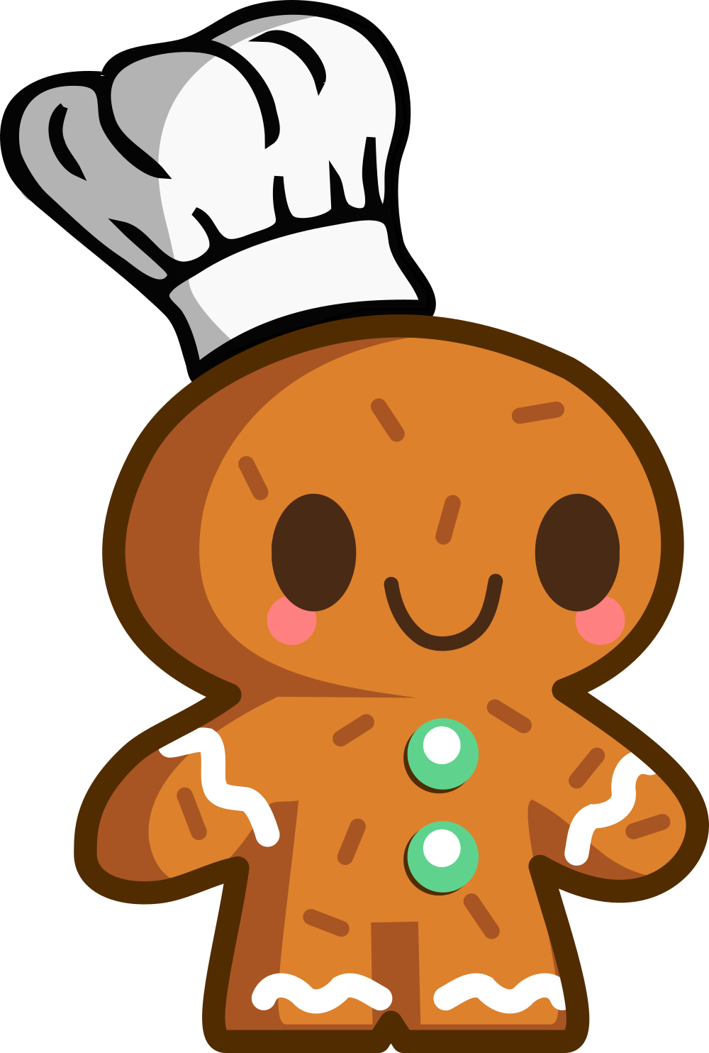 The baker . Gingerbread clipart month