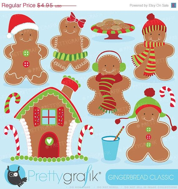 Man clip art for. Gingerbread clipart month