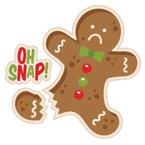 Man svg my miss. Gingerbread clipart oh snap