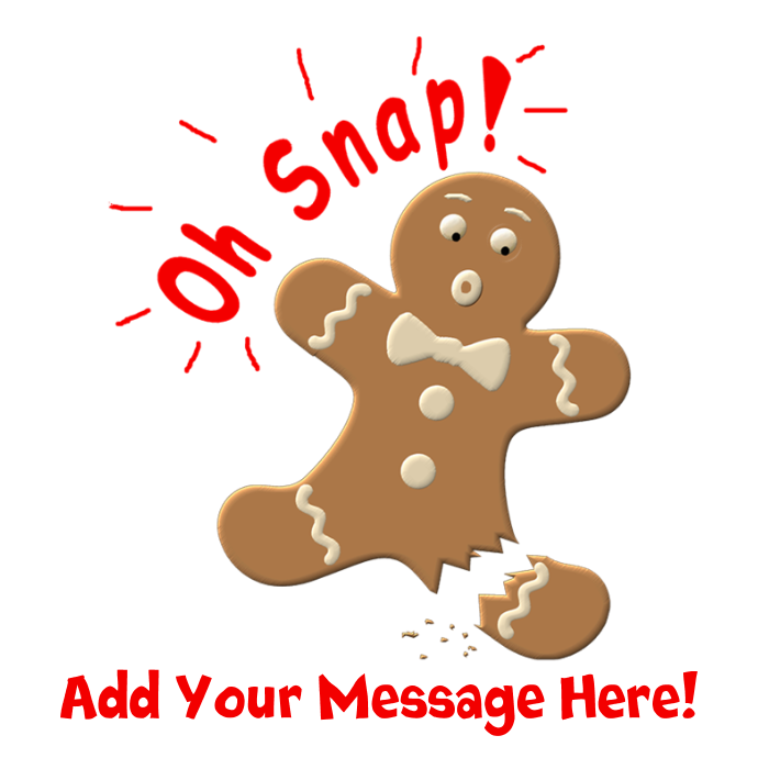Apron dark by egifts. Gingerbread clipart oh snap