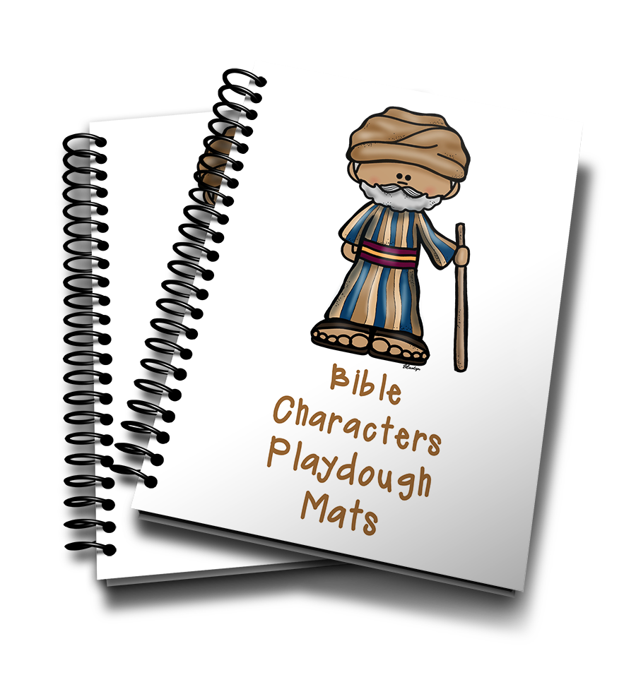 Playdough clipart transparent. Mats printables bible characters