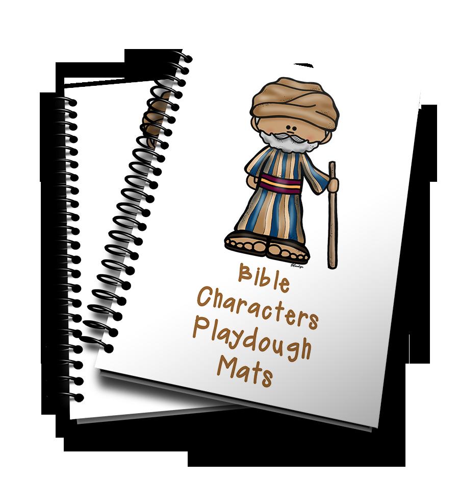 Playdough clipart transparent. Mats printables bible characters