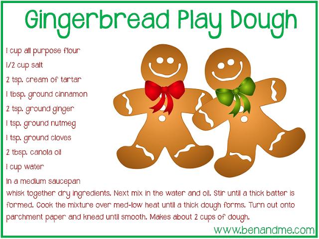 Play dough recipe free. Gingerbread clipart playdough
