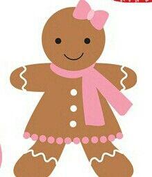 Christmas girl clip art. Gingerbread clipart preschool