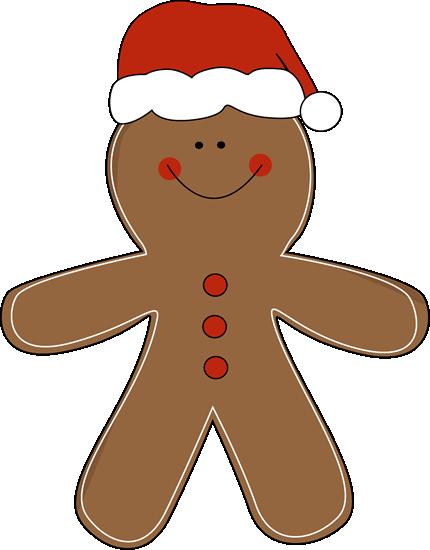 Gingerbread clipart preschool. Man wearing a santa