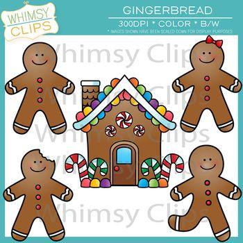 Clip art paper crafts. Gingerbread clipart preschool