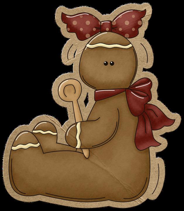 Gingerbread clipart primitive. Man clip art