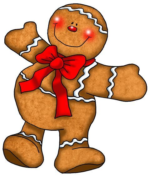Gingerbread clipart primitive. X free clip art