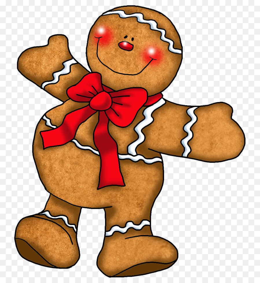 Christmas man food . Gingerbread clipart red