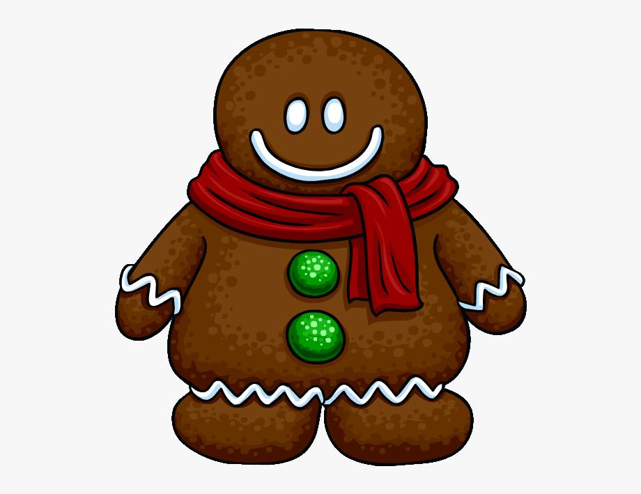 Christmas man clip art. Gingerbread clipart red