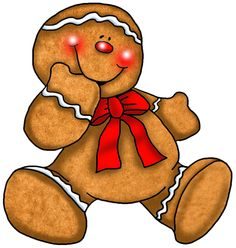 Gingerbread clipart red. X free clip art