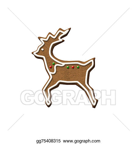 Gingerbread clipart reindeer. Clip art cookie stock