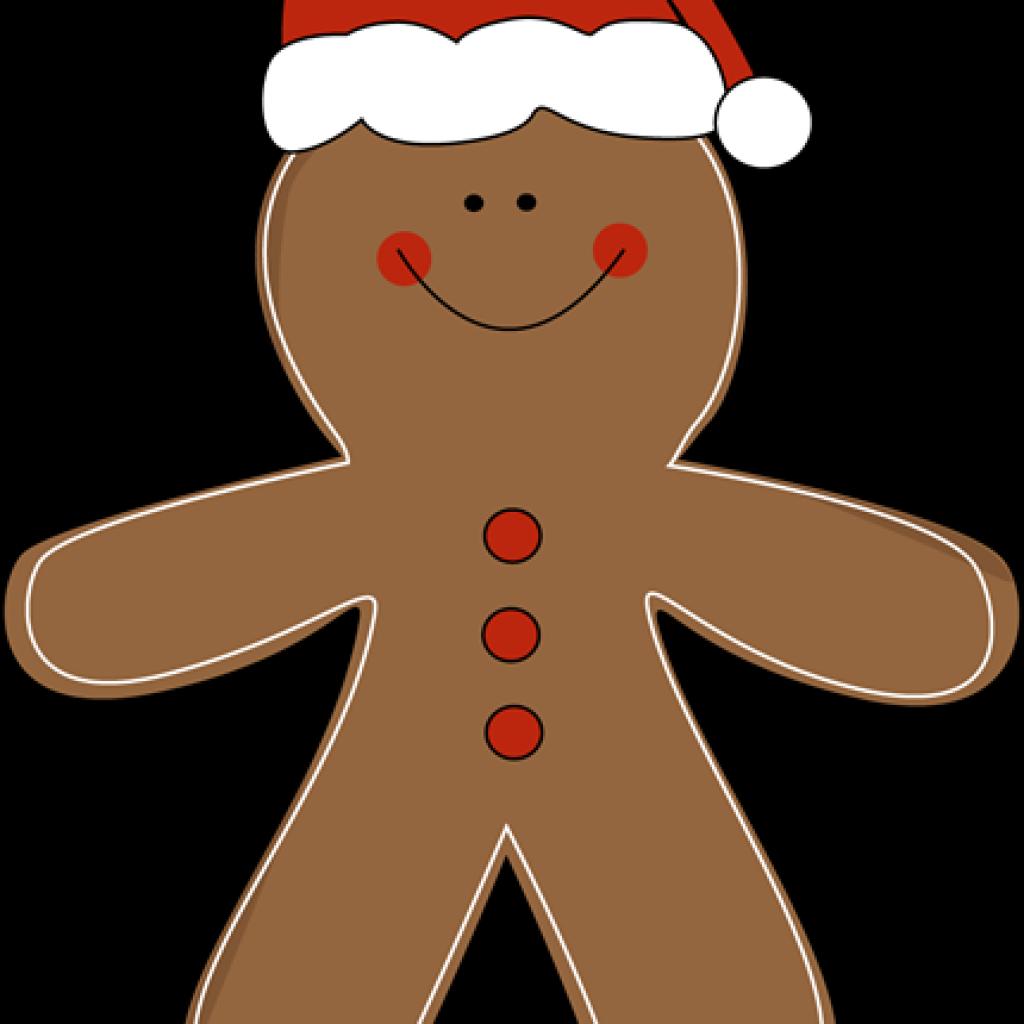 Gingerbread clipart santa hat. Man football hatenylo com