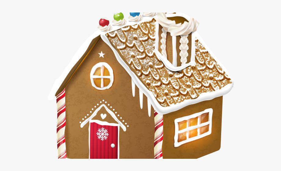 Cottage house free . Gingerbread clipart simple