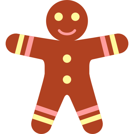 Christmas man icon png. Gingerbread clipart simple