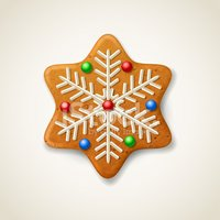 Christmas stock vectors me. Gingerbread clipart snowflake