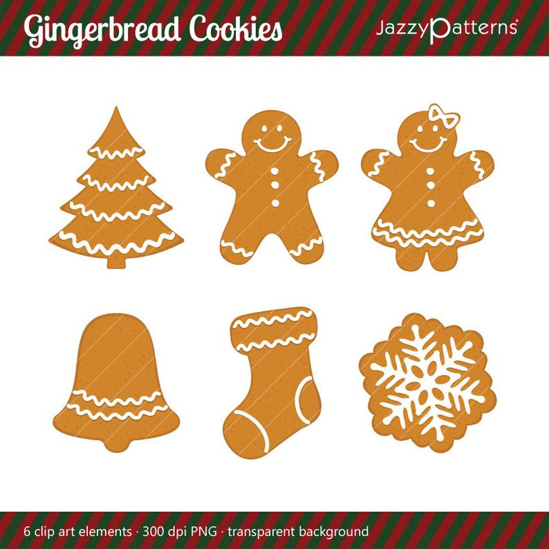 Cookies christmas stocking man. Gingerbread clipart snowflake
