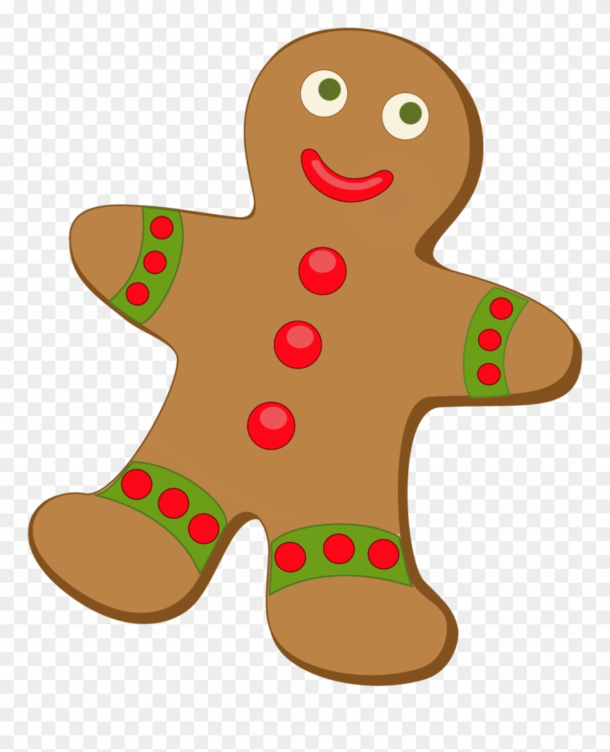 Gingerbread clipart transparent background. Free png