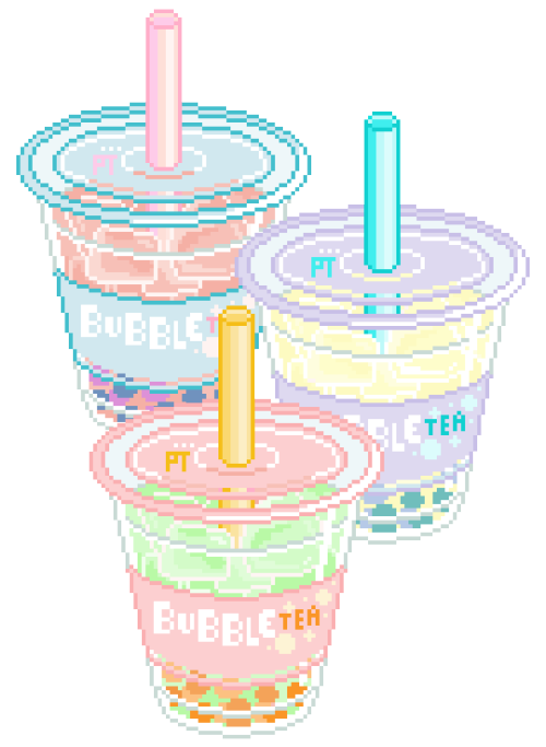 Food pixel bubble tea. Gingerbread clipart transparent tumblr