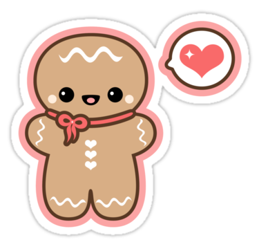 Cute man sticker teacher. Gingerbread clipart transparent tumblr