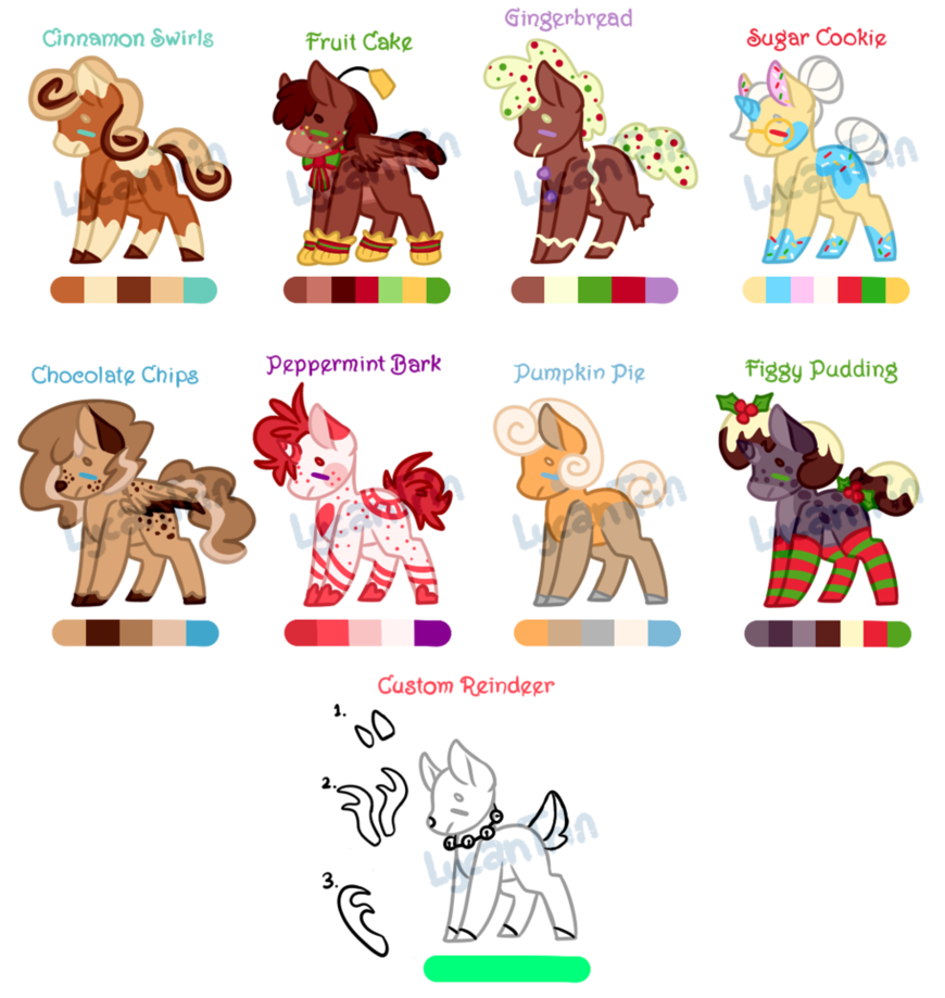 Holiday pony adopts reduced. Gingerbread clipart treat