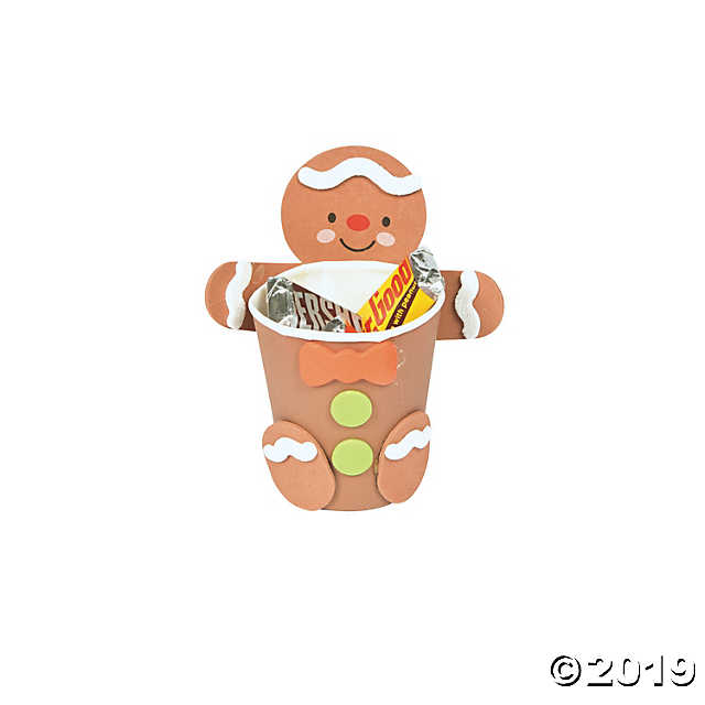 Cup hugger craft kit. Gingerbread clipart treat