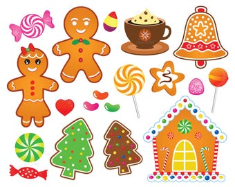 Gingerbread clipart window. Etsy