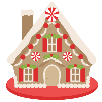 Gingerbread house png. Scrapbook clip art christmas