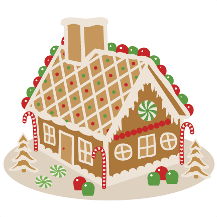 Svg scrapbook cut file. Gingerbread house png