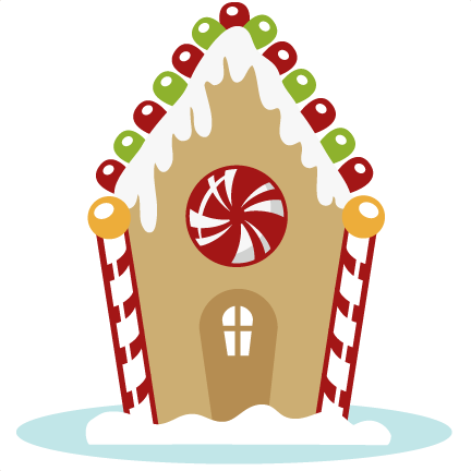Gingerbread house png. Svg cutting files for