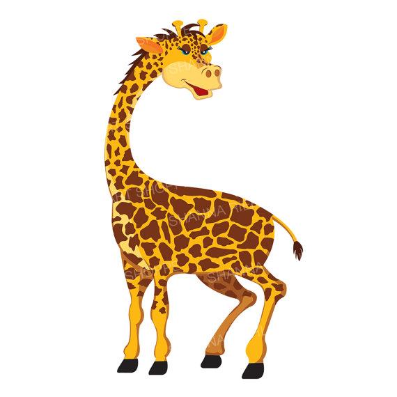 Jungle safari baby shower. Giraffe clipart