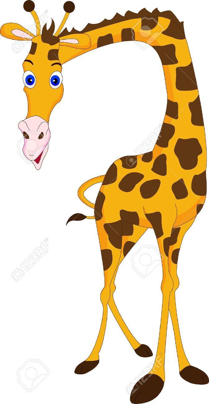 Giraffe clipart. Stock vector illustration and