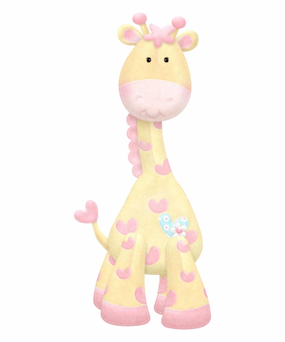 Pink . Giraffe clipart baby girl