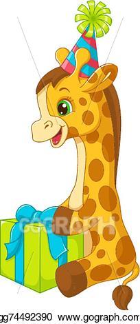 Vector art eps gg. Giraffe clipart birthday