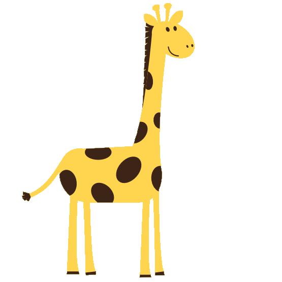 Giraffe clipart black and white. Clip art panda free