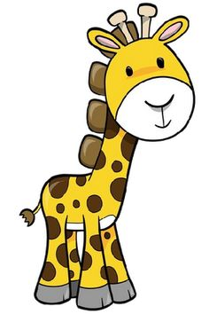 Free playing cartoon cliparts. Giraffe clipart caricature