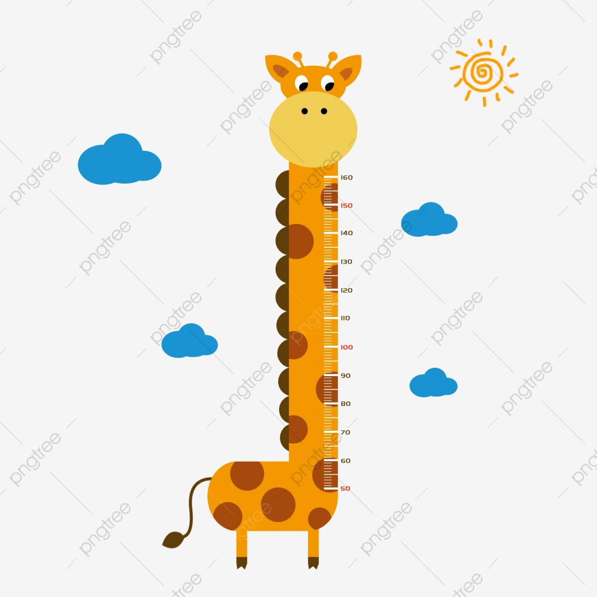 Giraffe clipart childrens. Children s height stickers