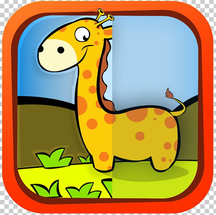 Cartoon terrestrial animal png. Giraffe clipart difference
