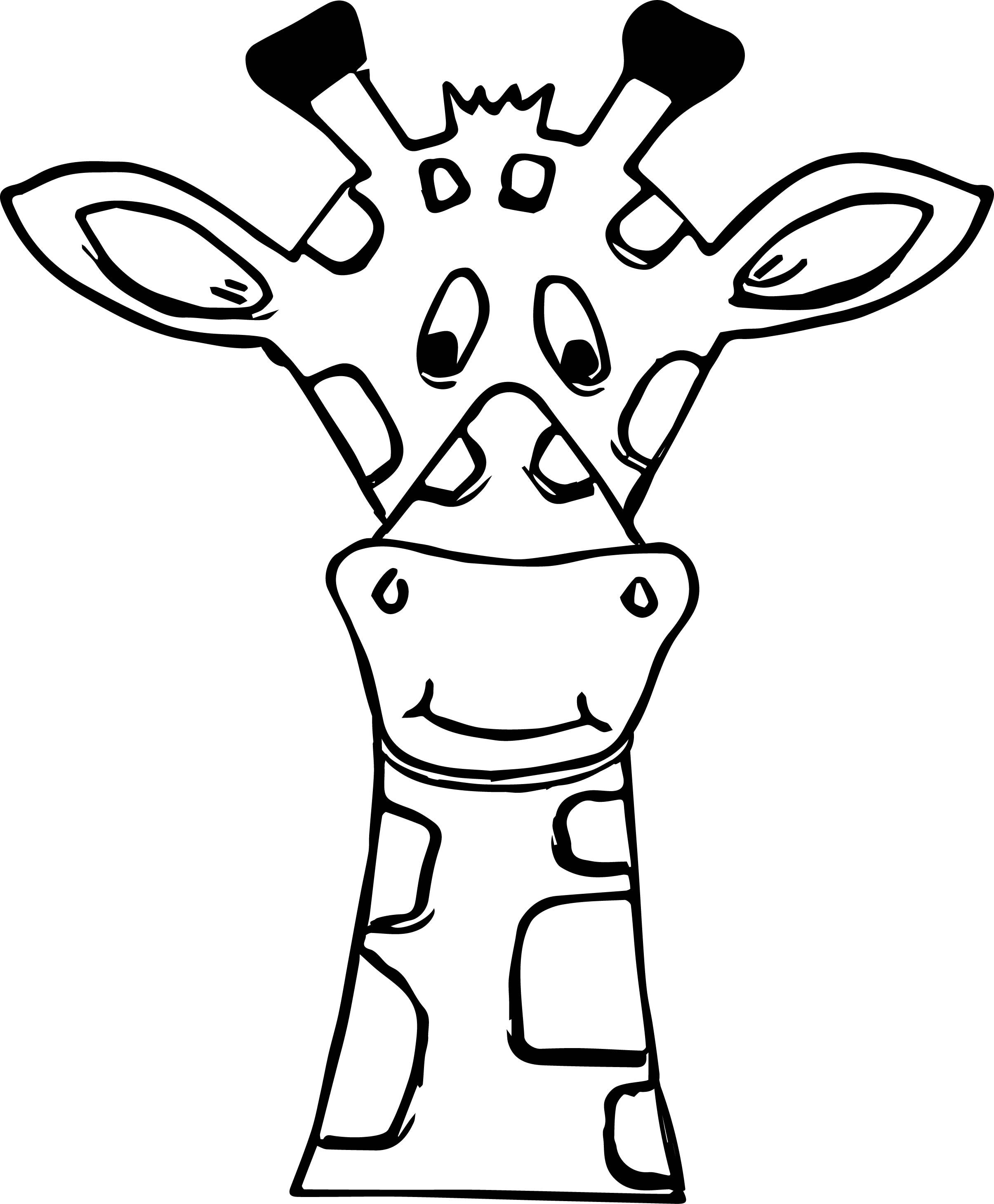 At paintingvalley com explore. Giraffe clipart face drawing