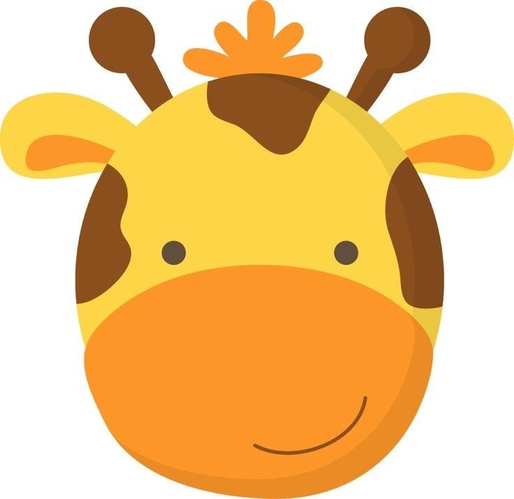Giraffe clipart face. Cute photo at the