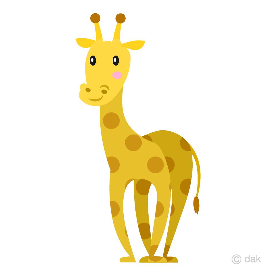 Simple free picture illustoon. Giraffe clipart girraffe
