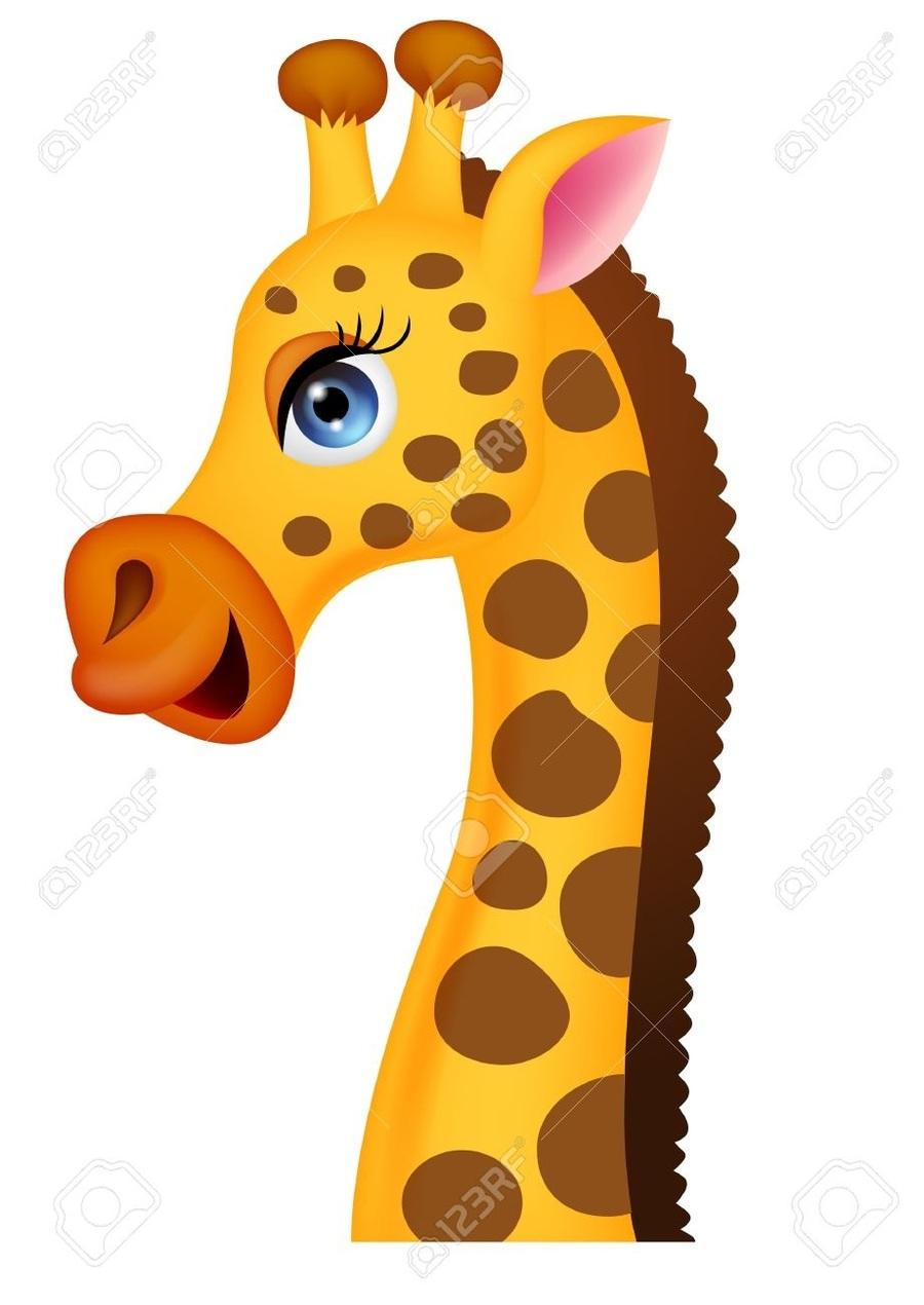 Giraffe clipart head. Download cartoon clip art