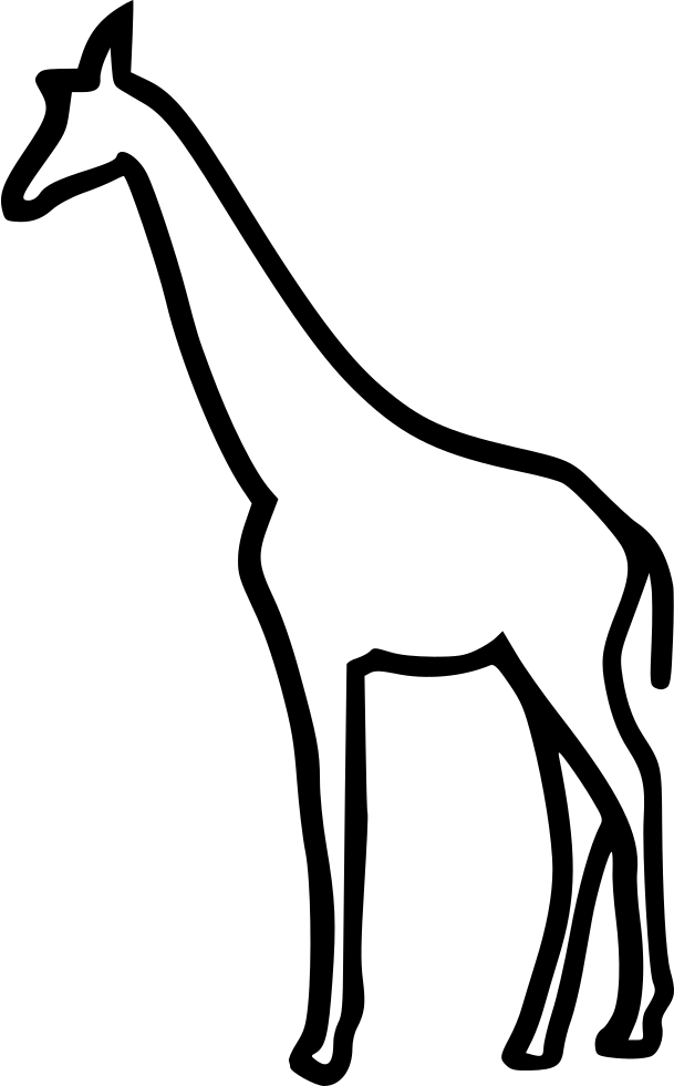 Giraffe clipart icon. Svg png free download