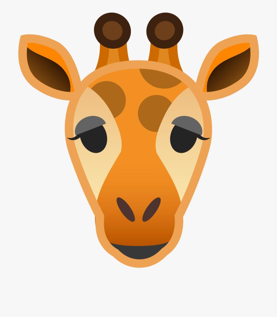 Giraffe clipart icon. Head cartoon png free