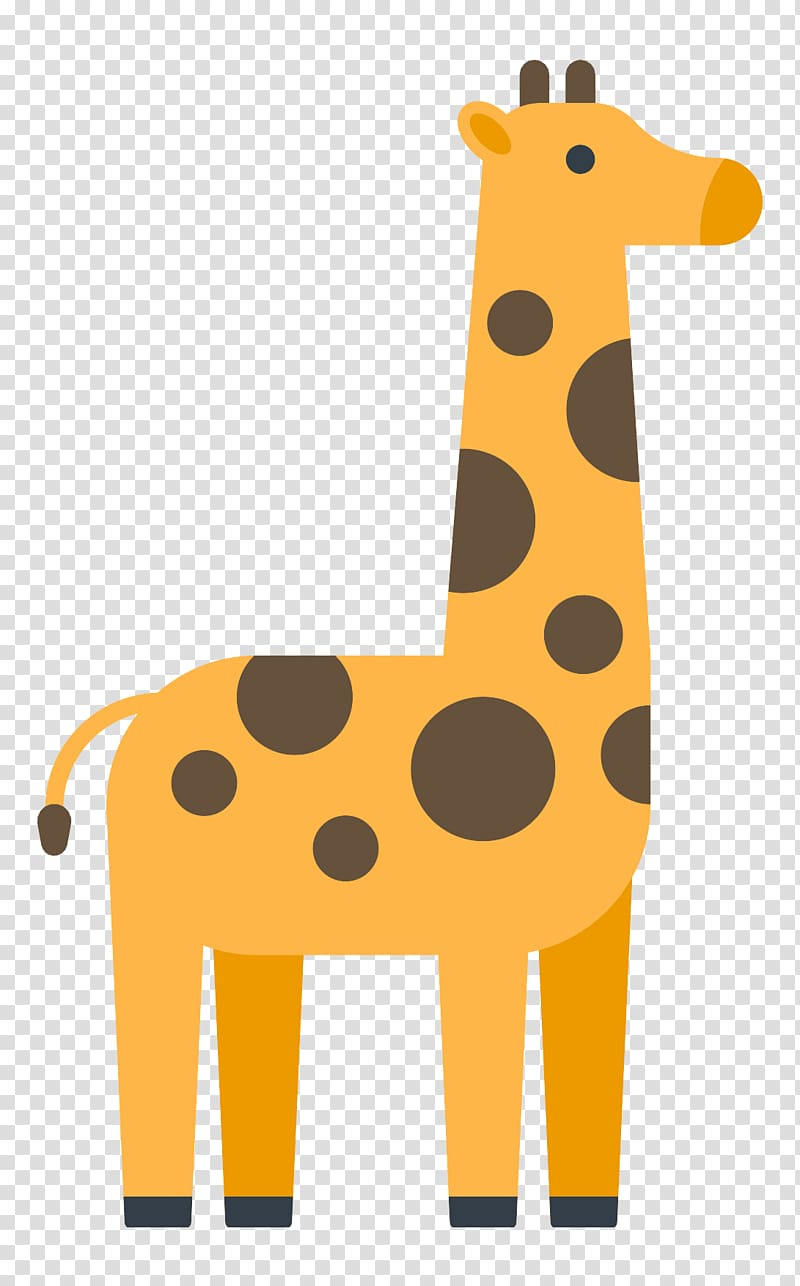 Northern cute transparent background. Giraffe clipart icon