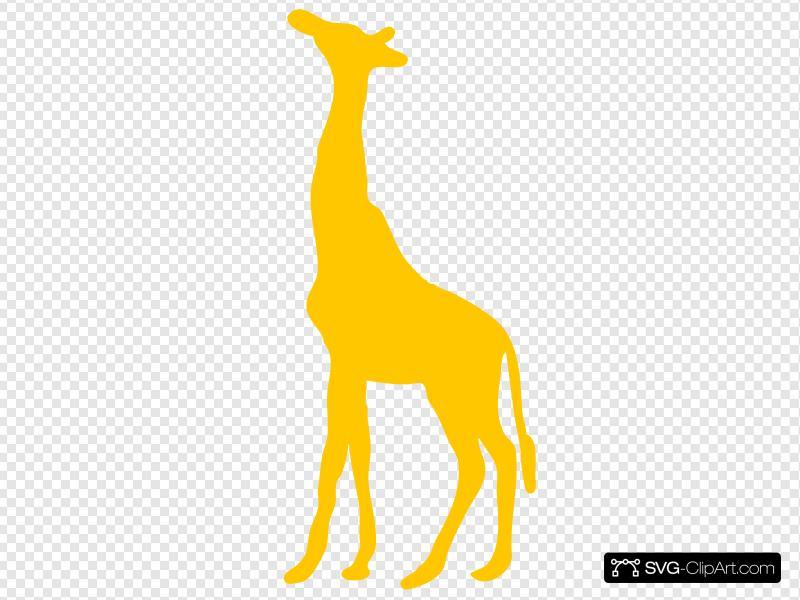Clip art and svg. Giraffe clipart icon