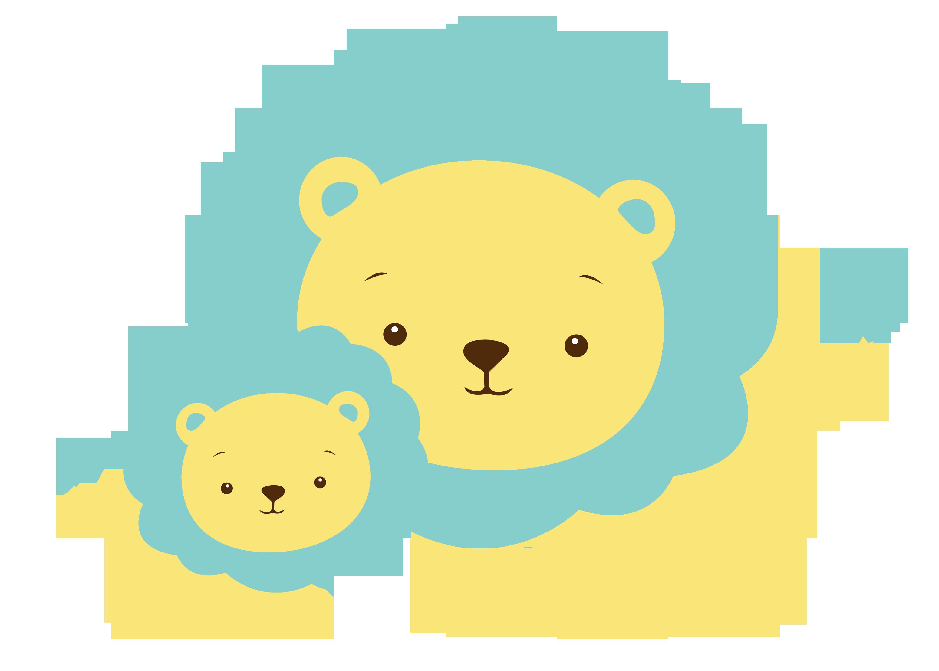 Cat and animals blue. Giraffe clipart mom baby