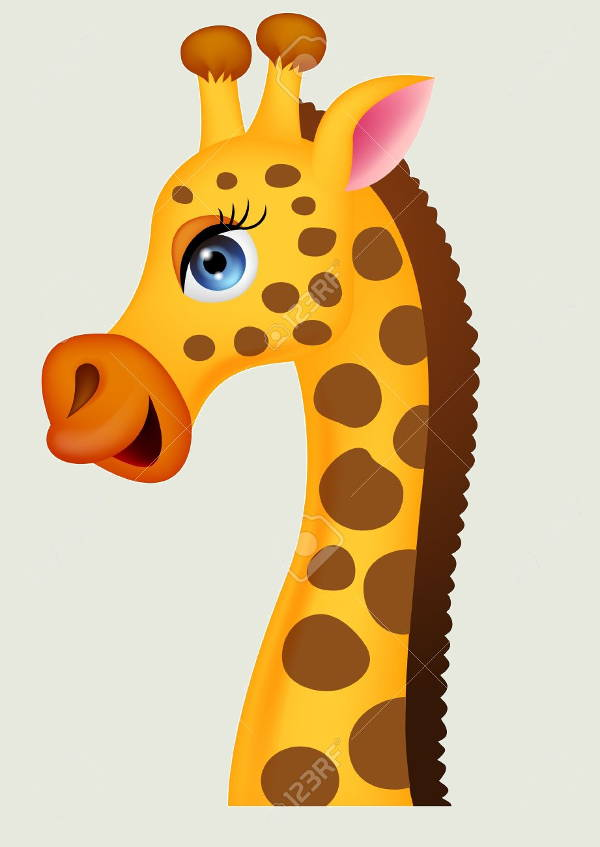Giraffe clipart side view.  cliparts free vector