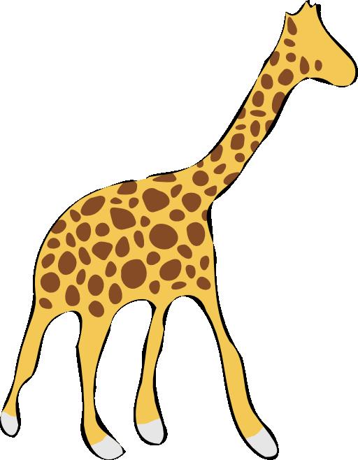 Giraffe clipart tail. I royalty free public